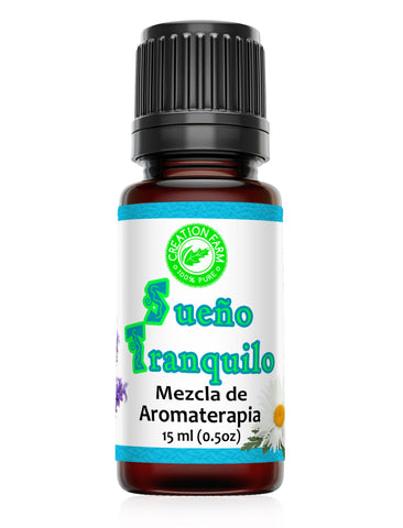 Sueño Tranquilo Mezcla de Aromaterapia - Restful Sleep Aroma Blend 15 ml (0.5 oz) by Creation Farm