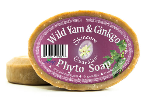 Wild Yam & Ginkgo Phyto Soap - Two 4 oz Bar Pack by SkinCare Guardian - Creation Pharm