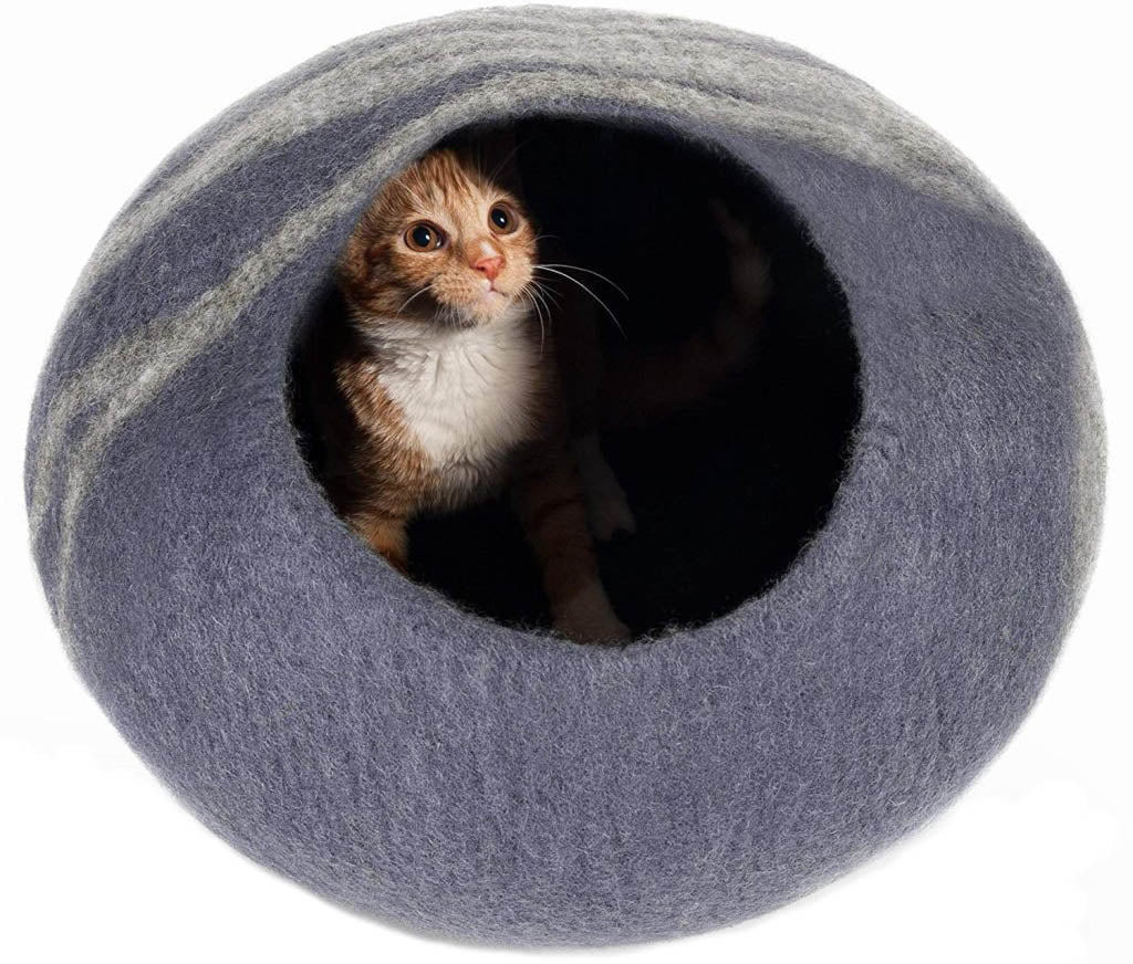 Handmade wool cat caves