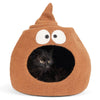 Handmade Wool Cat Cave Bed - Brown Poop