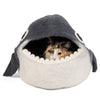 Handmade Wool Cat Cave Bed - Orca