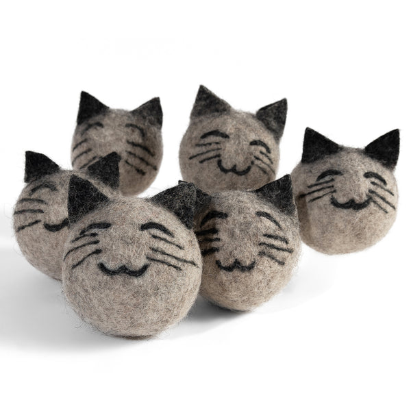 TwinCritters Tumblers -  Cat Wool Dryer Balls - 6 pack