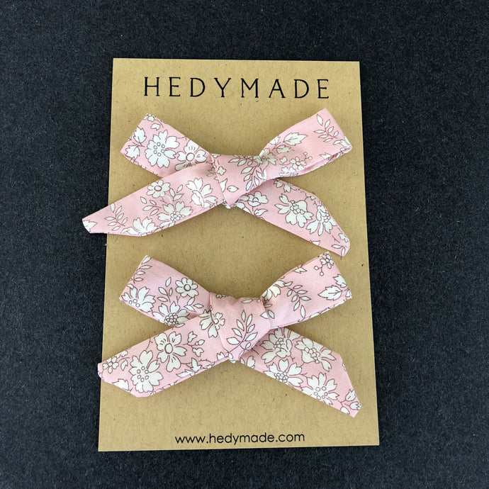 Hand-tied Hair Bows in Liberty London Capel