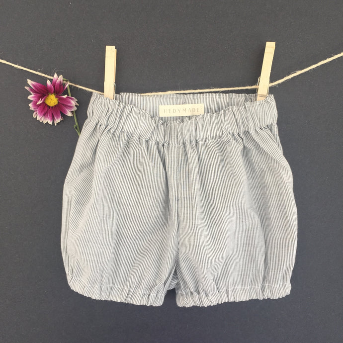 Bloomers in Organic Pinstripe Cotton