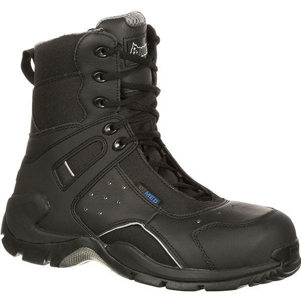 1b0845fa75f ROCKY 1ST MED CARBON FIBER TOE PUNCTURE-RESISTANT SIDE-ZIP WATERPROOF DUTY  BOOT 91113