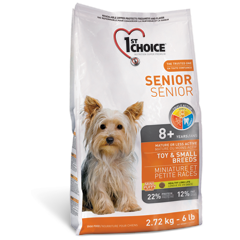 1ST CHOICE  Senior Toy & Small Breeds