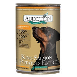 ADDICTION Canned Dog Food King Salmon & Potatoes Entrée (Grain Free)