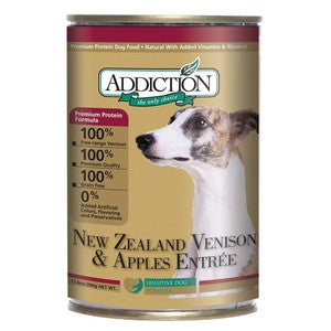ADDICTION Canned Dog Food New Zealand Venison & Apples Entrée (Grain Free)