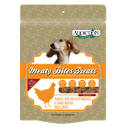 ADDICTION Grain-Free Dog Treats Meaty Bites Chicken