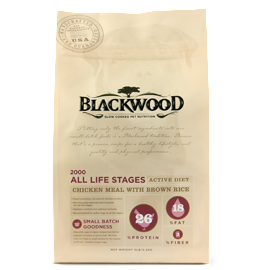 BLACKWOOD 2000 Original Formula Active Diet Chicken Meal With Brown Rice Recipe