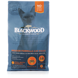 BLACKWOOD Indoor Formula Cat Food Chicken Meal & Brown Rice Recipe