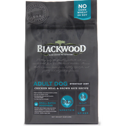 BLACKWOOD Holistic Formula Everyday Diet Chicken Meal & Rice Recipe Black Label Adult