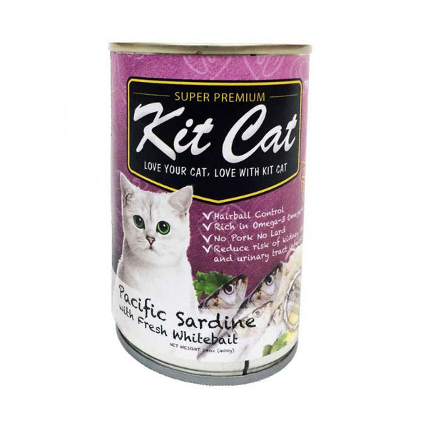 KIT CAT Pacific Sardines with Fresh Whitebait Canned Food