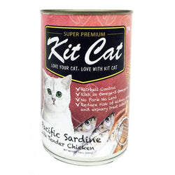 KIT CAT Pacific Sardines with Tender Chicken Canned Food