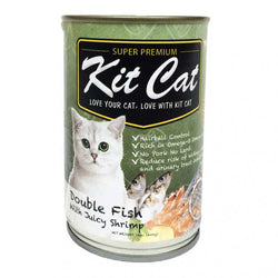 KIT CAT Super Premium Double Fish with Juice Shrimp Canned Food