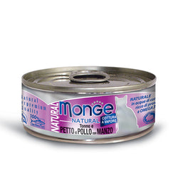 MONGE Natural Tuna & Chicken With Beef