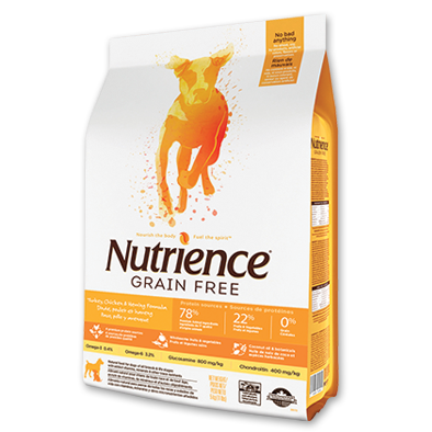NUTRIENCE Grain Free Turkey, Chicken & Herring Formula