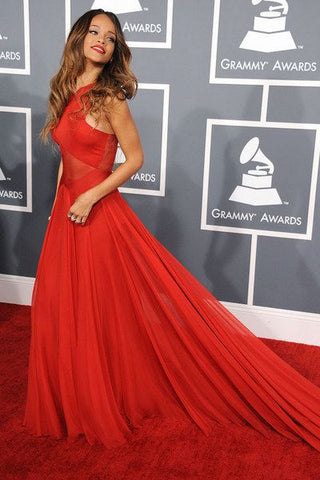 Rihanna Rih Rih Red dress