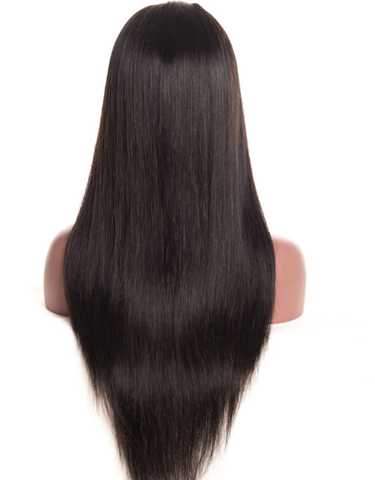 striaght style lace human hair wig with customized frontal and baby hairs