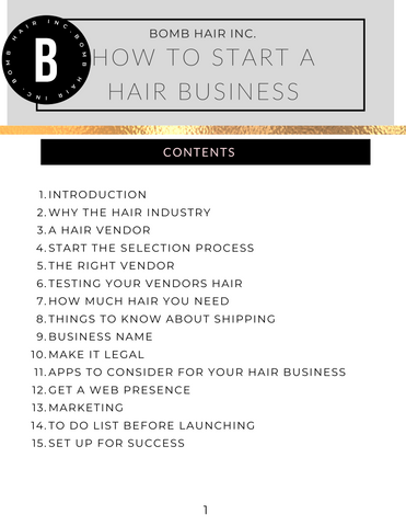 how to start a hair extension business with no money