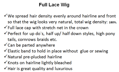 What is a full lace wig