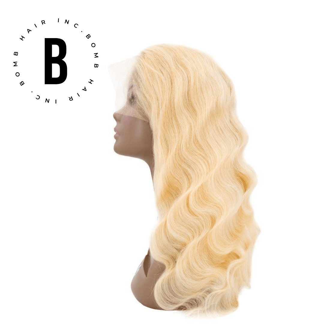 Bomb Blonde Body Wave Lace Front Wig - BombDotComHair