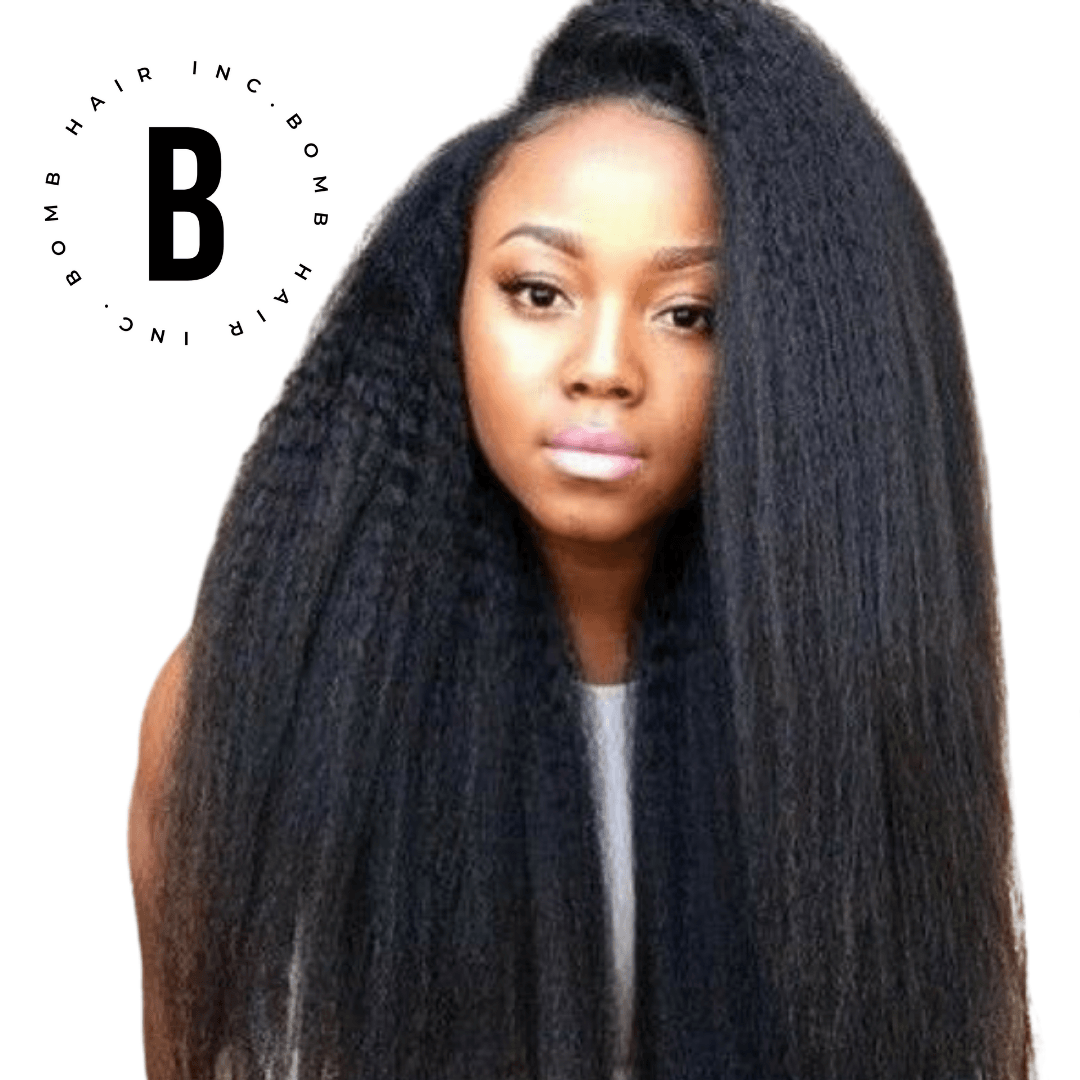 Bomb Kinky Straight Hair - BombDotComHair