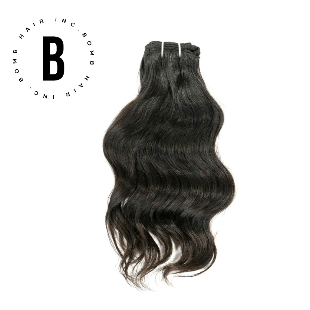 Raw Indian Wavy Hair Extensions - BombDotComHair
