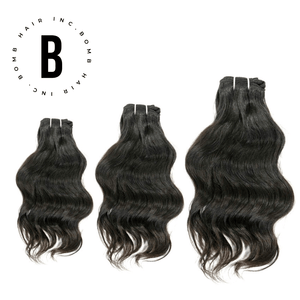 Open image in slideshow, Raw Wavy Indian Hair Bundle Deal - BombDotComHair