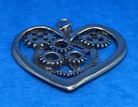 Steampunk Heart Pendant With Cord JSHEA