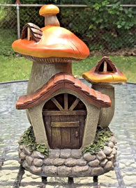 Midwest Design Imports Miniature Garden Solar Mushroom House 10 inch 50408