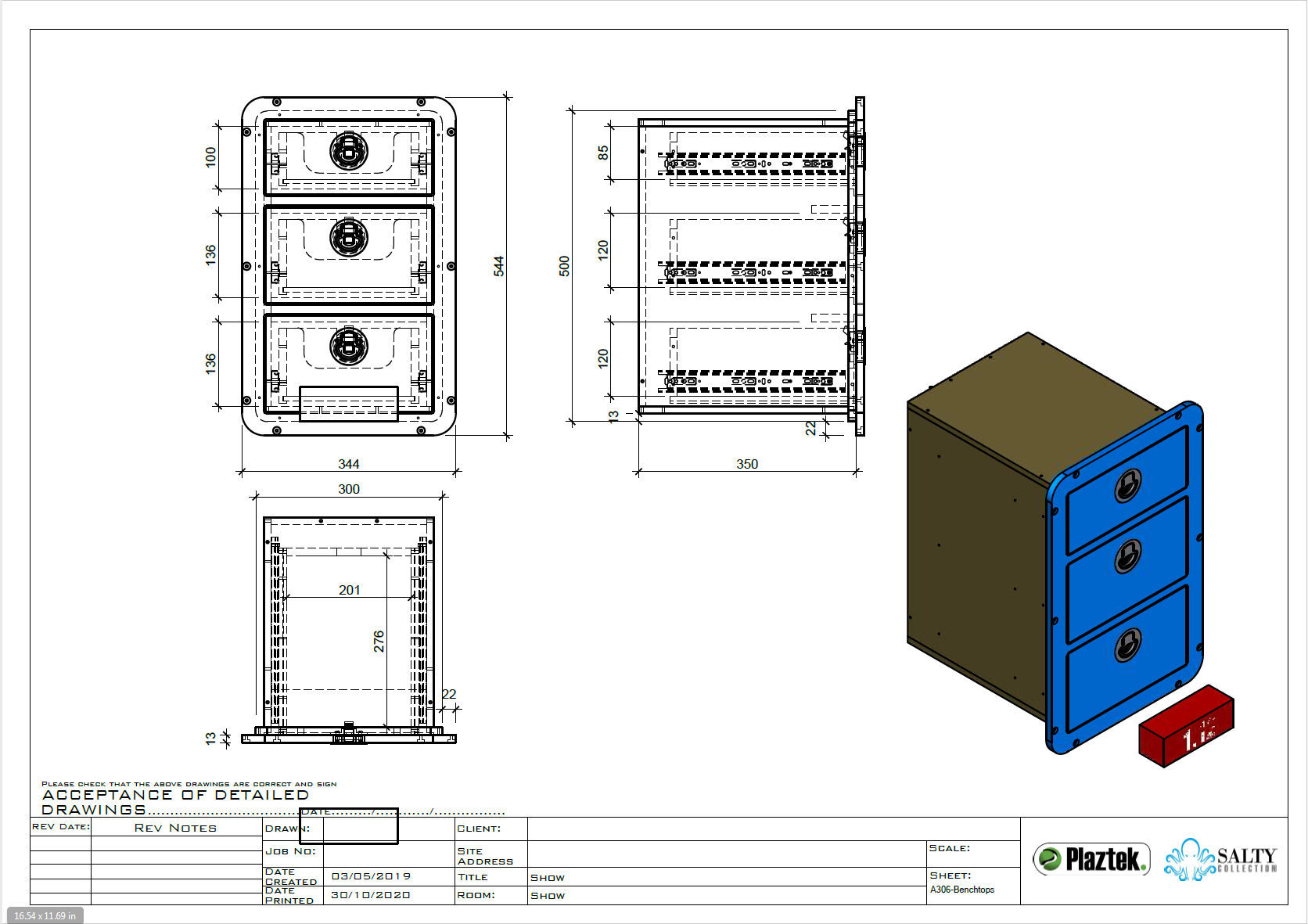 Custom built boat drawers, made to order detailed drawings for your approval