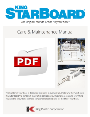 Care and Maintenance info sheet King StarBoard®️