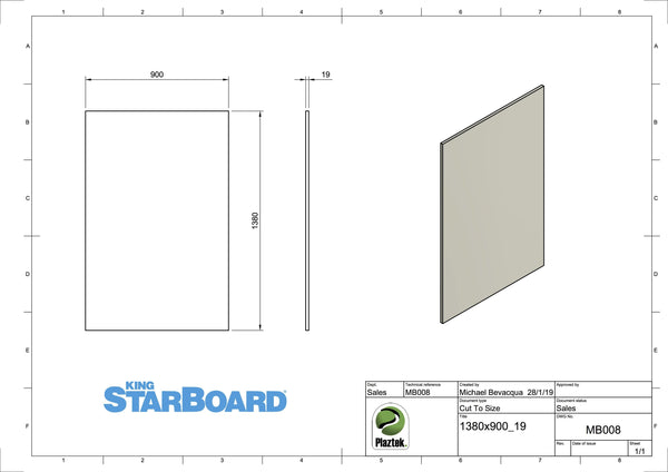 Plaztek stockists of King Starboard HDPE Marine Board