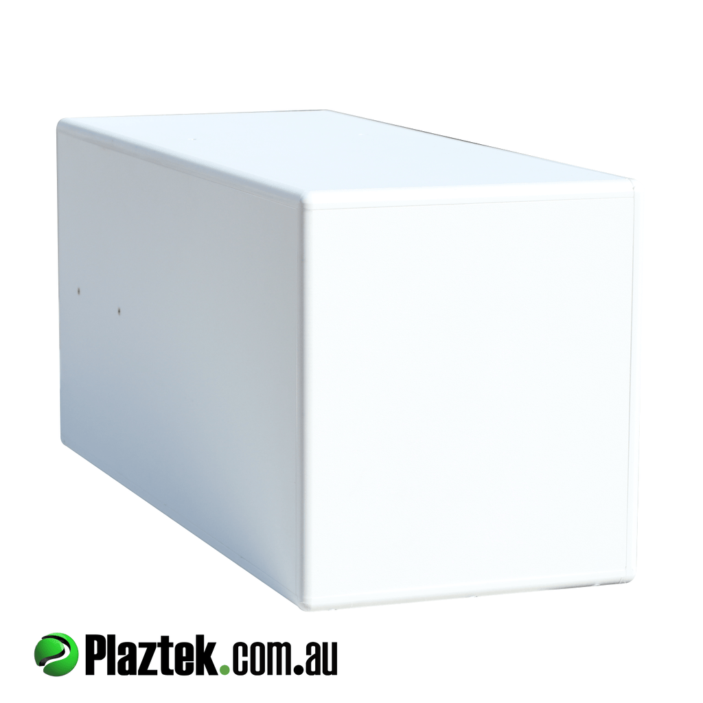 Plaztek Fishing Tackle Cabinet rear view, a fully sealed weatherproof storage box, perfect for tackle storage under your bait board