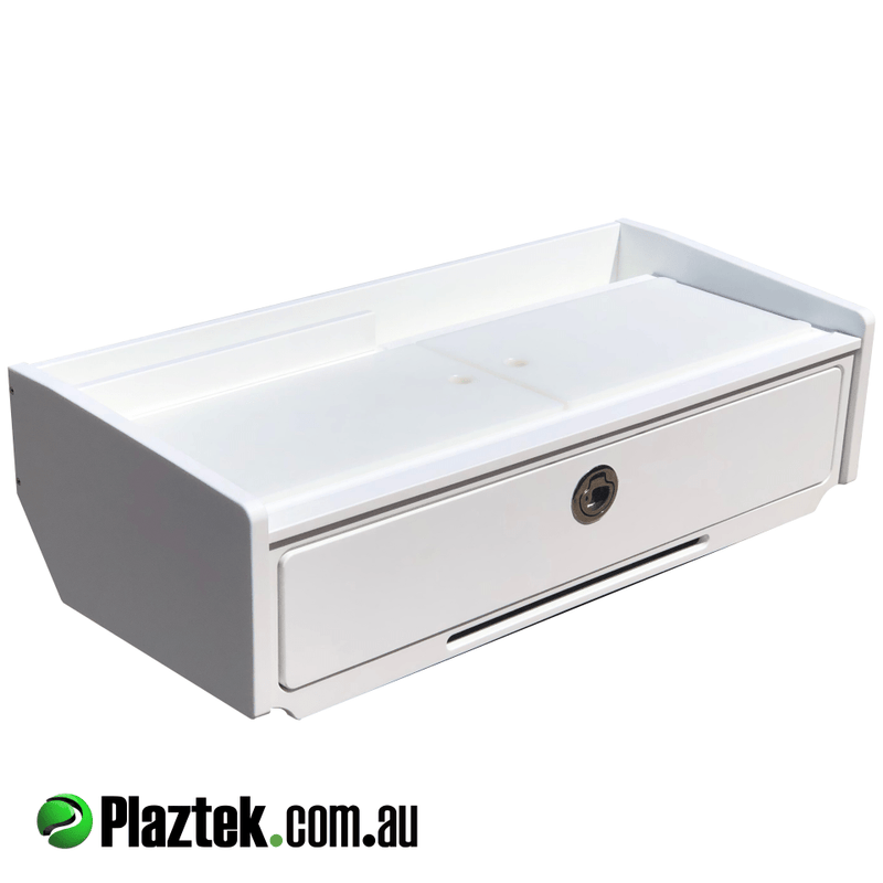 Plaztek Bait Board single drawer with defrost bin made from King StarBoard® comes in a range of colours, we can custom make this design to your size, made here in Australia