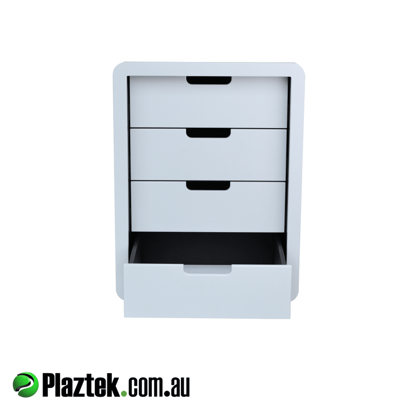 Boat Outfitting Tackle Storage Cabinet with open face made using King StarBoard.
