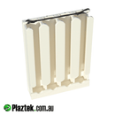 Plaztek, boat spear gun rack 4 piece. Marine grade shock cord holds the guns in place. Made in Australia.