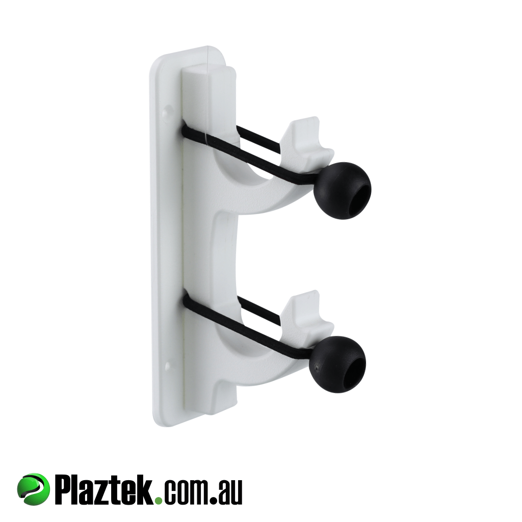 Plaztek boat gaff pole rod 2 gang holder. Mounting block for easy mounting in glass or aluminum boats. Made in Australia using King StarBoard.