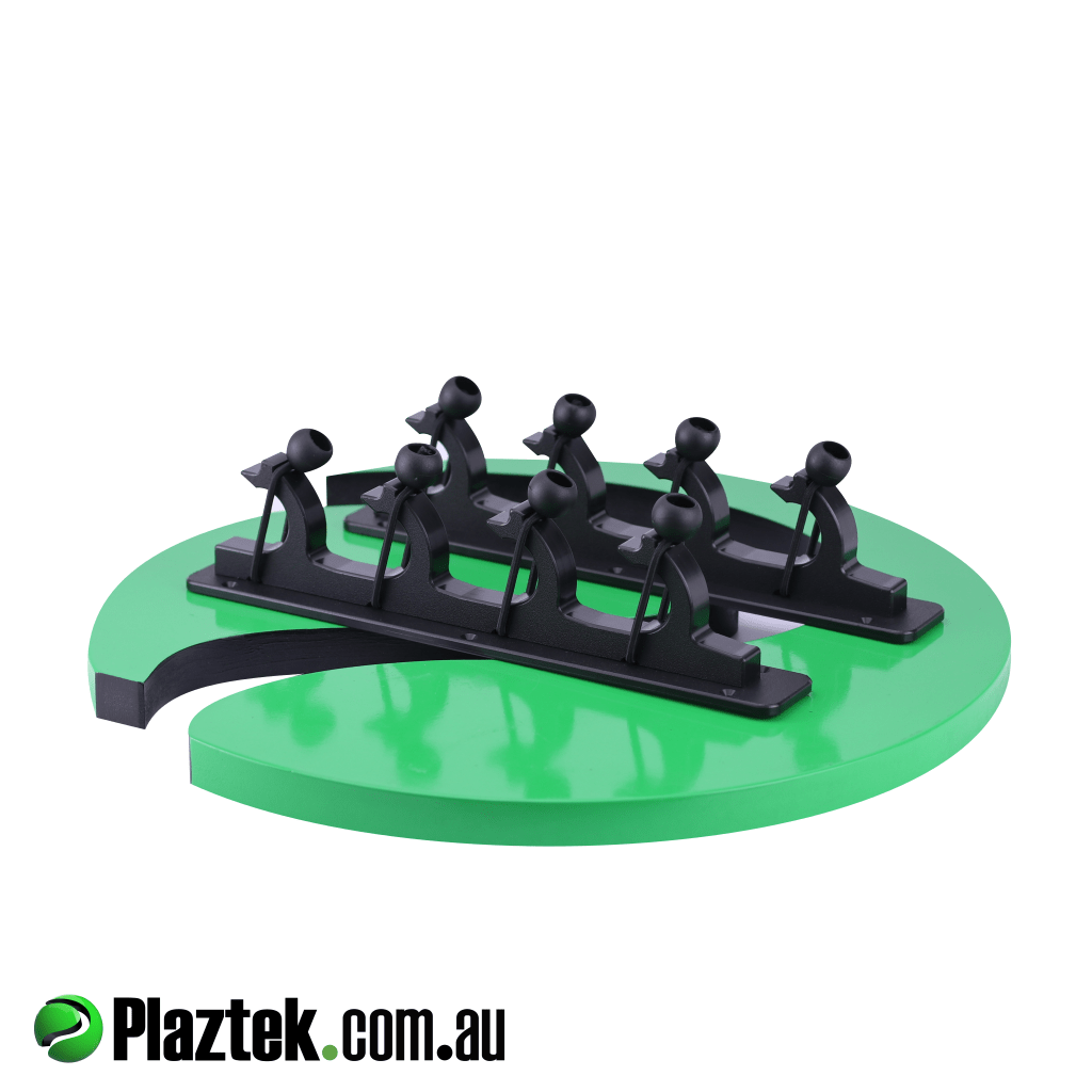 Plaztek boat gaff, pole, rod holder will hold up to four items. Made in Australia