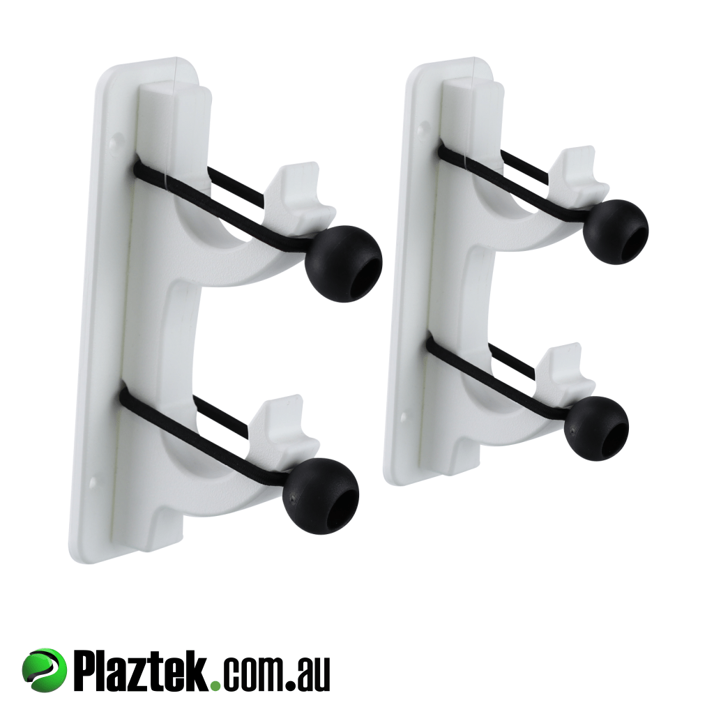 Boat gaff pole rod holder 2 gang. Shown and sold as a pair. Plaztek made using King StarBoard.