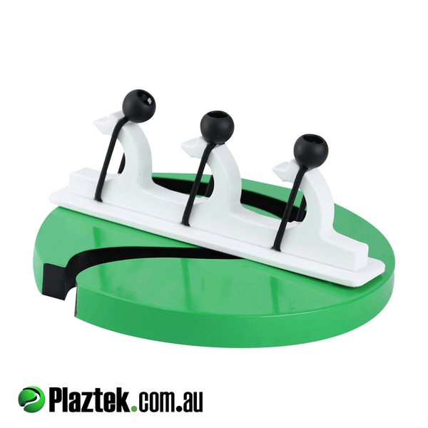 Plaztek boat gaff pole rod holder. Ideal for under gunwale storage. Made in Arctic White King StarBoard.