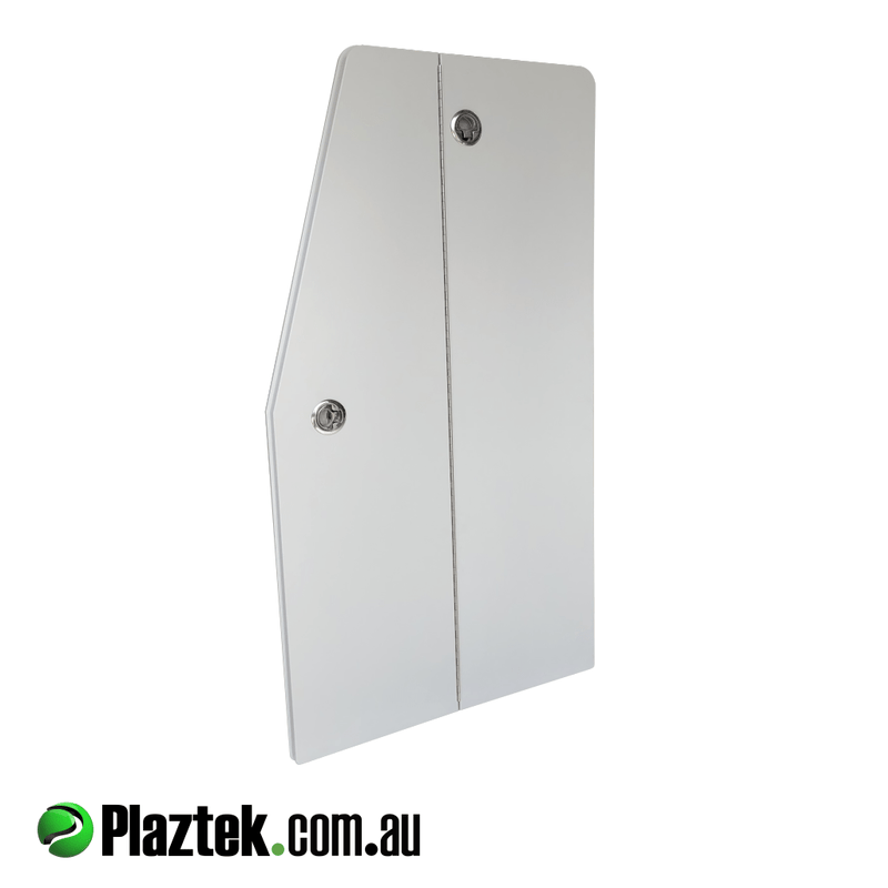 Plaztek Boat Locker Doors, we can custom make bifold doors to suit your boat