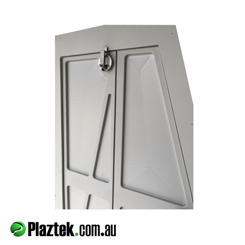 Plaztek Custom Boat Locker Doors, made from King StarBoard® in Dolphin Grey