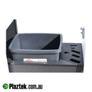 Plaztek custom boat outfitting needs. 15L rubbish bin with multi tool cut out to store you knifes, lip grippers, plires. Made with King StarBoard