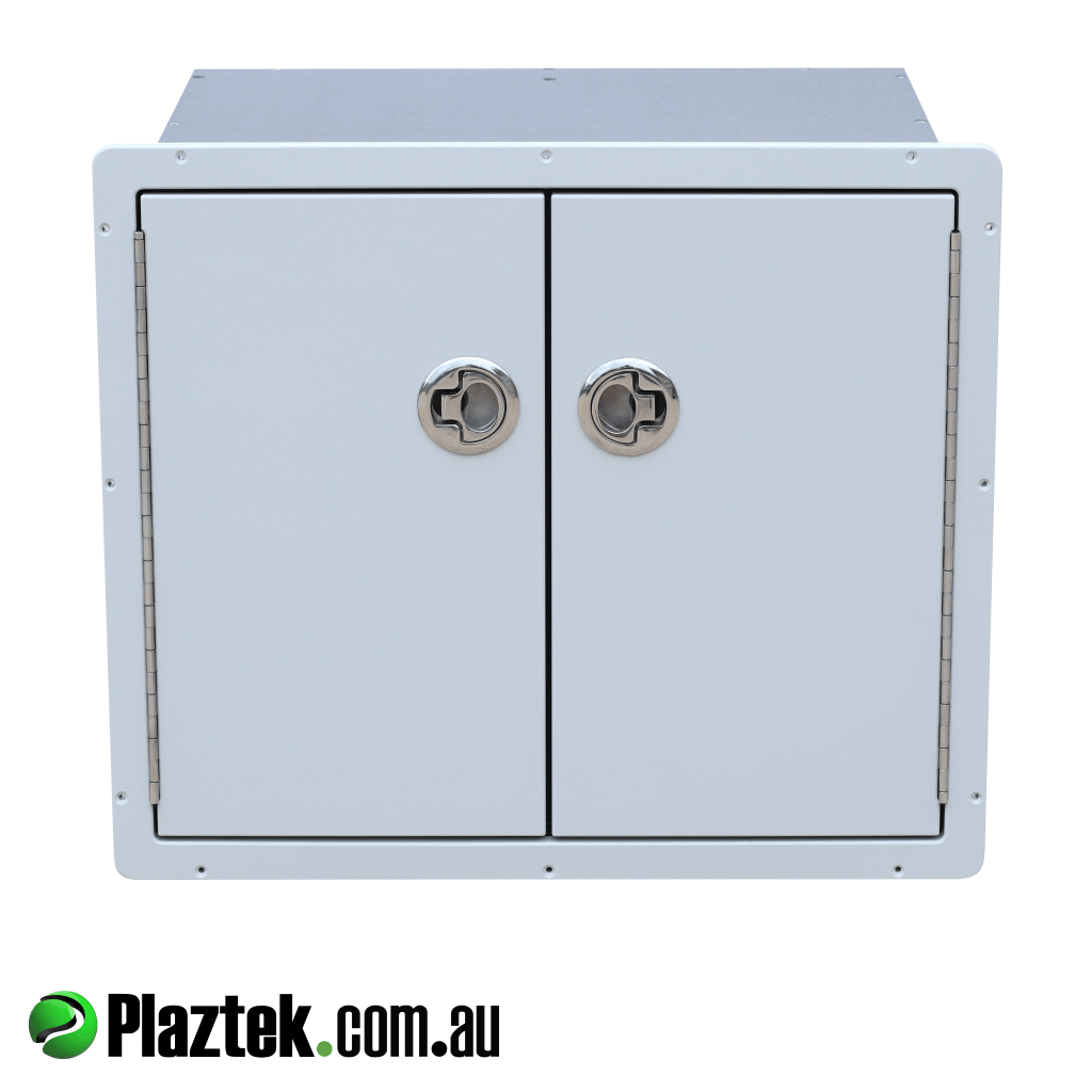 Boat tackle tray storage cabinet with S/S latches made in Australia using King StaraBoard.