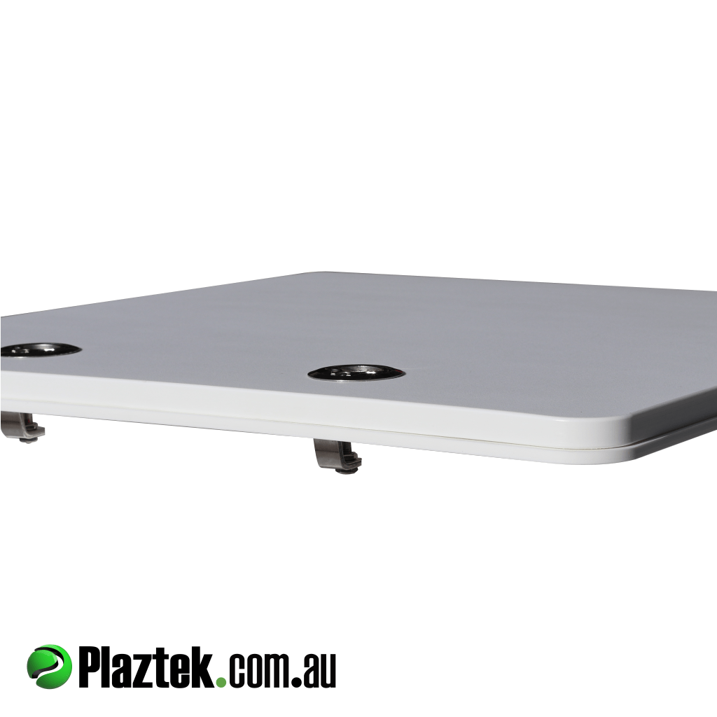 Plaztek Boat Locker Doors use 316 SS Compression deck hatch latches to give positive seal and keep water out