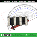 Plaztek 25 Degree Adjustable BullBar Rod Holders