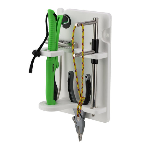 Boat Fishing Tool Holders will carry all brands of Fish Lip Grips, Pliers, Gloves, Batten and Iki Jime devices and many other fishing tools, by Plaztek