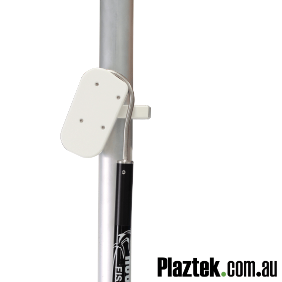 Plaztek Gaff Holders for Fishing and Boat Tool Holders Post Mounted Round Head Hook design Close up